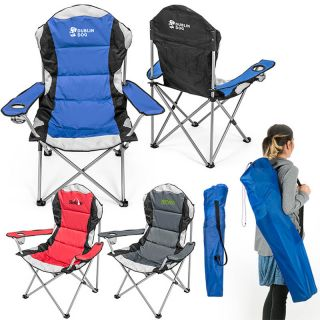 Custom Printed Go-Everywhere Padded Fold-Up Lounge Chairs