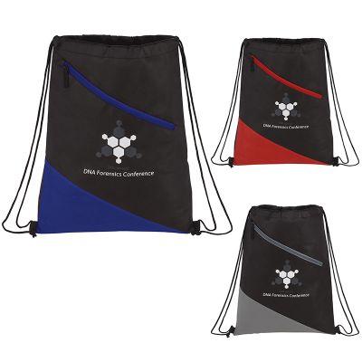 Custom Imprinted Slanted Non-Woven Drawstring Bags