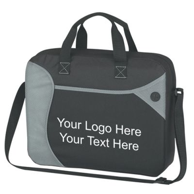 Custom Imprinted Wave Briefcase Messenger Bags