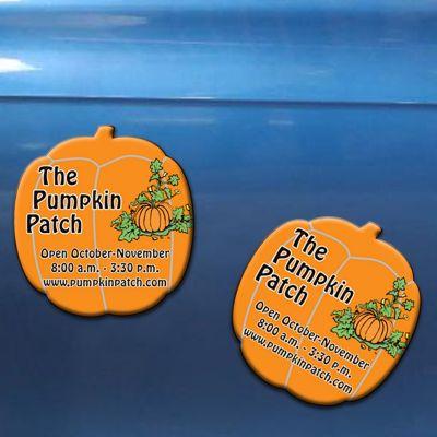 1.87x2 Promotional Halloween Pumpkin Shape Magnets 20 Mil