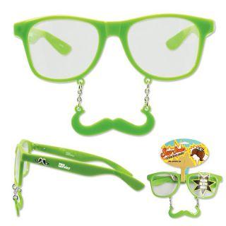 Custom Halloween Green Glow-in-the-Dark Sun-Stache Glasses