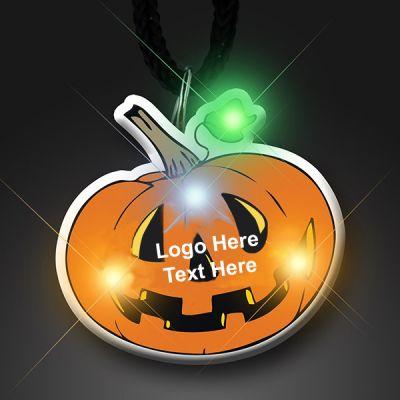 Custom Printed Flashing Pumpkin Flashing Pins