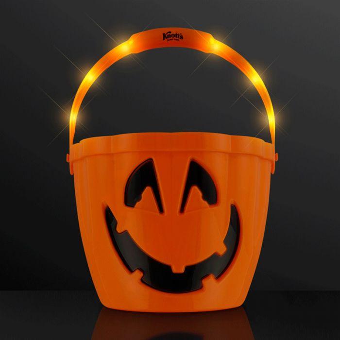 Pumpkin Light Handle Halloween Buckets