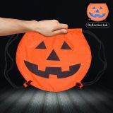 Promotional Halloween Pumpkin Themed Drawstring Backpacks