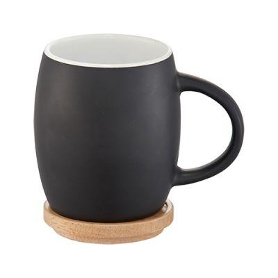 Mug Lidcoaster Ceramic Hearth 14 Wood Oz With LR4j5A3