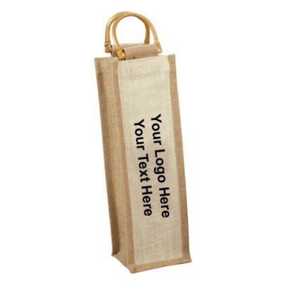 Promotional Logo Jute Wine Bags