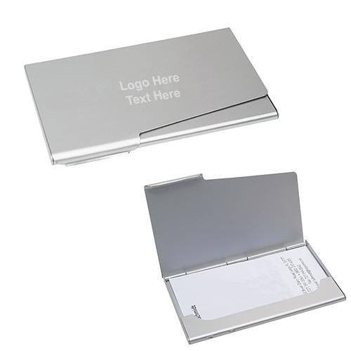 Silver Toned Etched North Carolina State Flag Business Card Holder