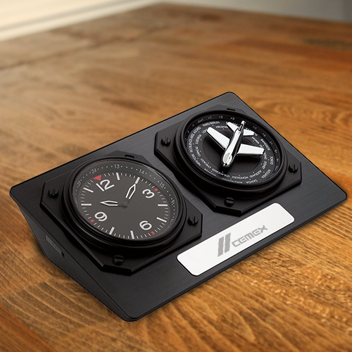 Custom Printed Anita World Time Desk Clocks Clocks