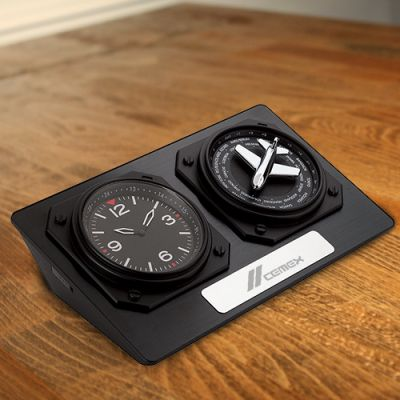 Custom Printed Anita World Time Desk Clocks