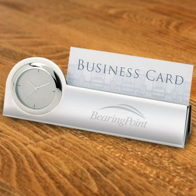 Custom Printed Clock And Business Card Holders