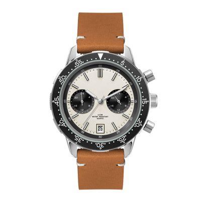 Custom White Dial Chronograph Men's Watches