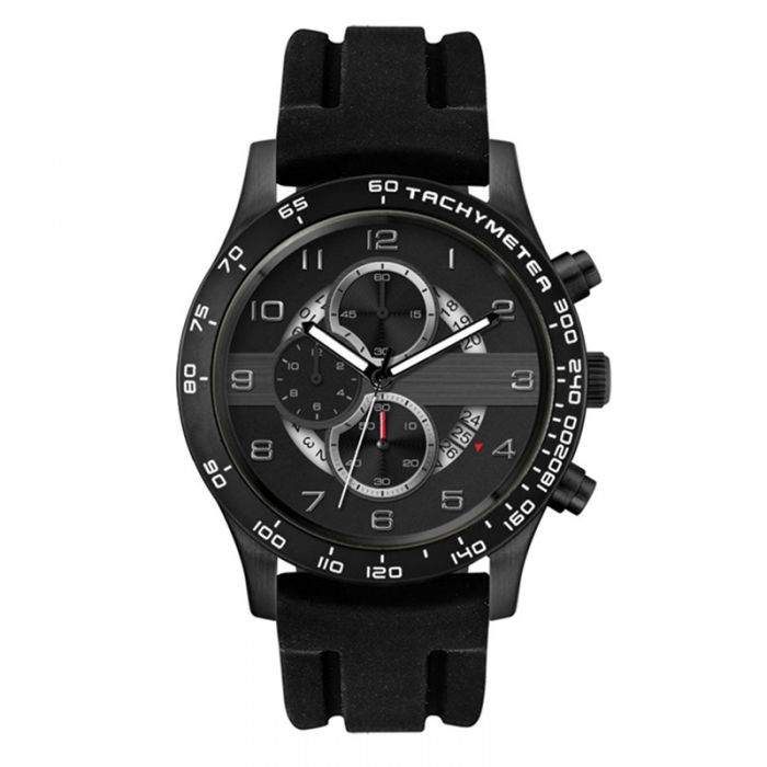 Black Band Chronograph Men's Watches
