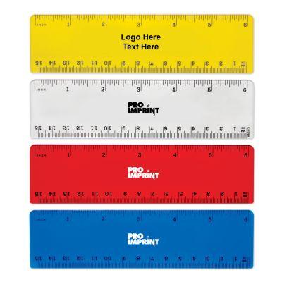 Custom Imprinted 6 Inch Rulers