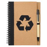 Promotional Eco Spiral Notebooks with Pens