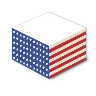 3 3/8 x 3 3/8 x 1 3/4 Inch Customized Non Sticky Memo Cubes
