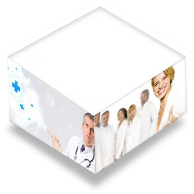 4 x 4 x 2 Inch Customized Sticky Memo Cubes