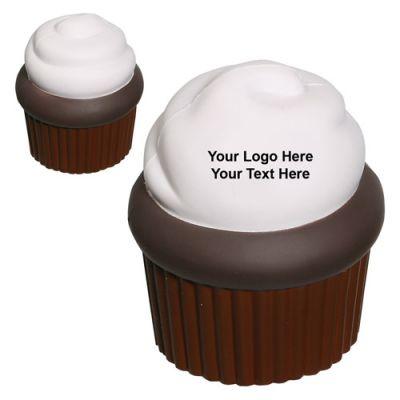 Custom Imprinted Cupcake Shaped Stress Relievers