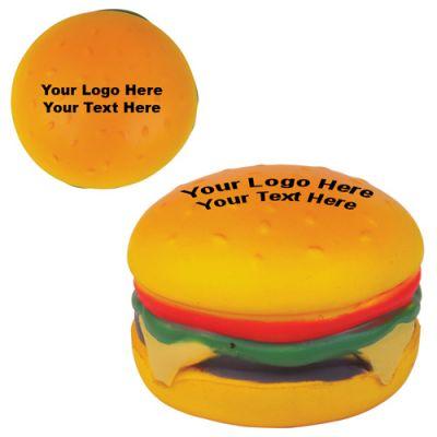 Custom Printed Hamburger Stress Reliever