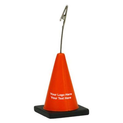 Logo Imprinted Construction Cone Shaped Stress Reliever Memo Holders