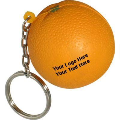 Customized Orange Shaped Stress Reliever Keychains