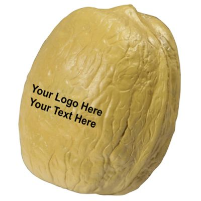 Logo Imprinted Walnut Shaped Stress Relievers