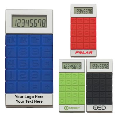 Custom Logo Imprinted Silicone Key Calculators