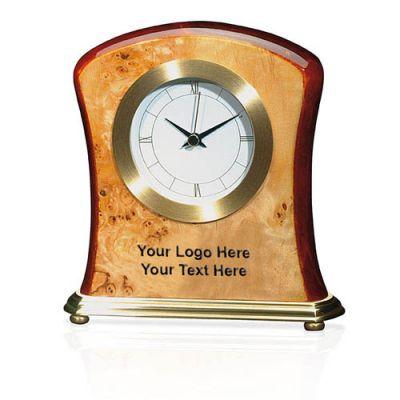 Custom Imprinted Jaffa Burlwood Clocks