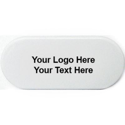 Custom Printed Oval Shape Magnetic Memo Clip Holder