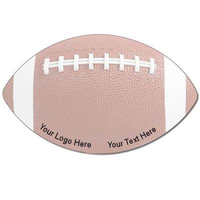 8x4.75 Inch Custom Laminated Football Shape Mini Memo Boards
