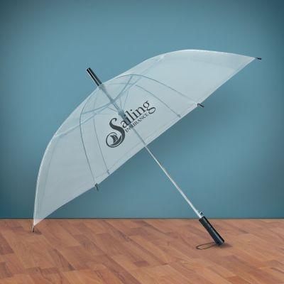 46 Inch Arc Custom Printed Clear Umbrellas