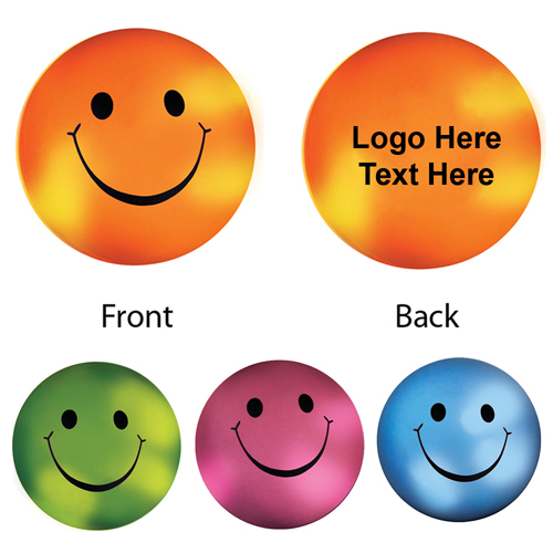 Imprinted Mood Smiley Face Stress Balls
