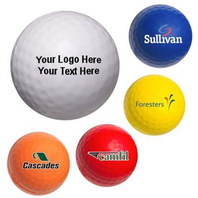 Custom Printed Golf Ball Shaped Stress Balls
