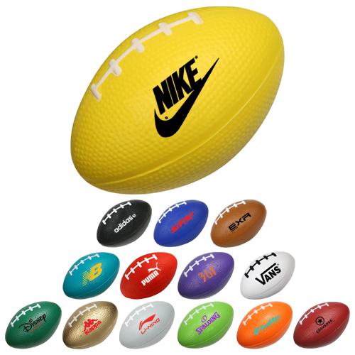 Custom football shaped stress balls stress balls