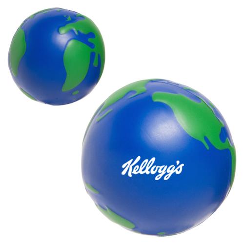 custom printed earthball shaped stress balls