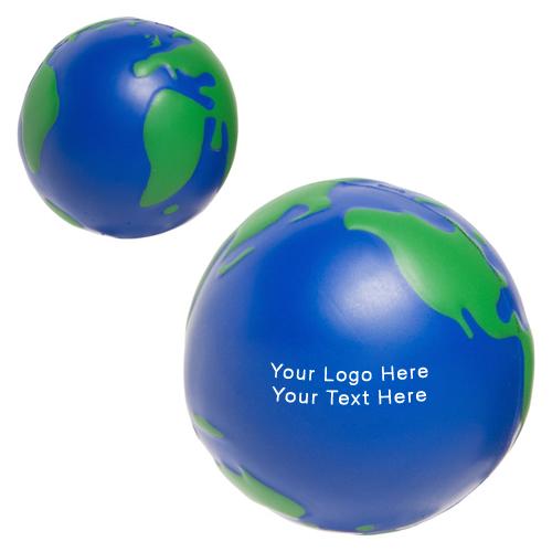 Custom Printed Earthball Shaped Stress Balls Stress Balls