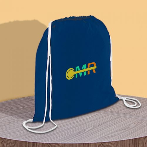 Custom Printed Condor Cotton Drawstring Backpacks