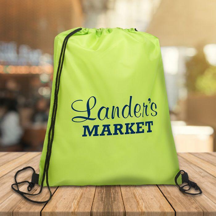 Quick Sling Budget Polyester Drawstring Backpacks