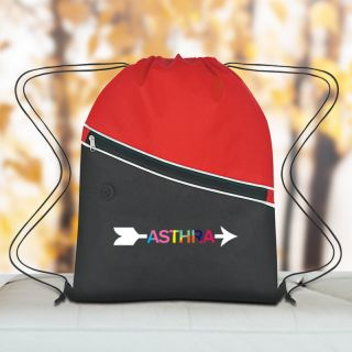 Promotional Non-Woven Polypropylene Two-Tone Drawstring Bags