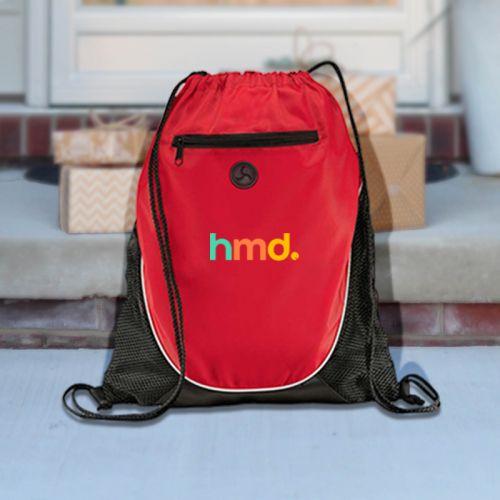Peek Polyester Drawstring Cinch Backpacks
