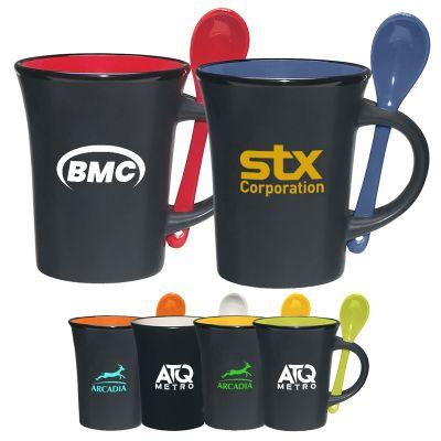 10 Oz Customized Aztec Spooner Mugs