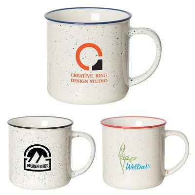 12 Oz Promotional Beach House Speckled Ceramic Mugs