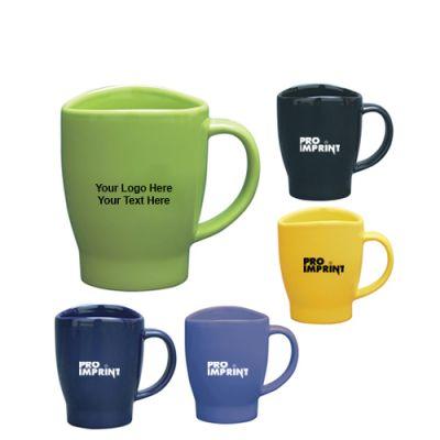 14 Oz Custom Printed Wave Mugs with 5 Colors