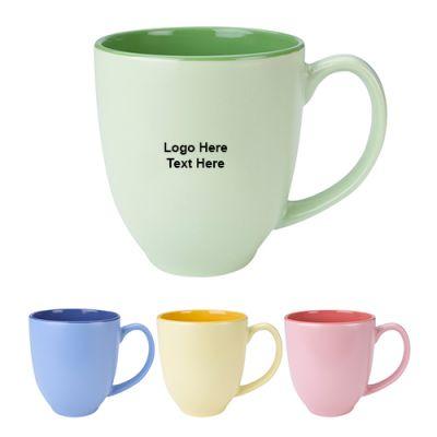 14 Oz Promotional Sorbet Bistro Ceramic Mugs