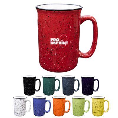 14 Oz Promotional Tall Campfire Ceramic Mugs