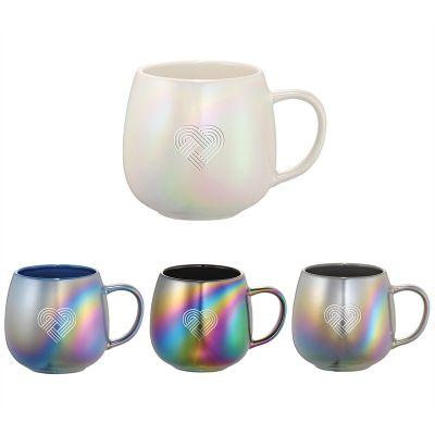 15 Oz Promotional Iridescent Ceramic Mugs