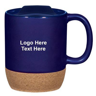 14 Oz Cork Base Ceramic Mugs