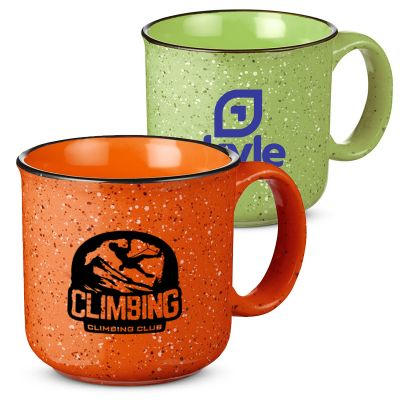 Promotional 15 Oz Campfire Ceramic Mugs