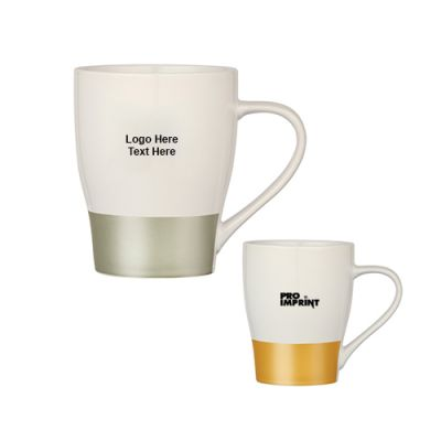 Promotional 16 Oz Metallic Stripe Mugs