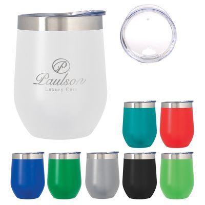 39416e854c70 12 Oz Custom Printed Vinay Stemless Wine Glasses - Metal Mugs & Tumblers