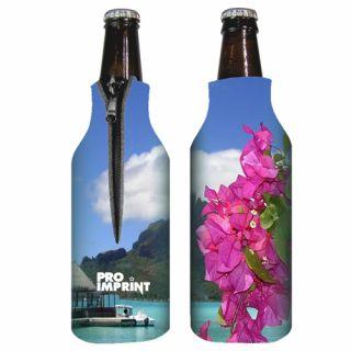 Custom Zippered Full Color Bottle Coolies